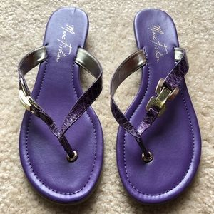 Marc Fisher Purple Sandals